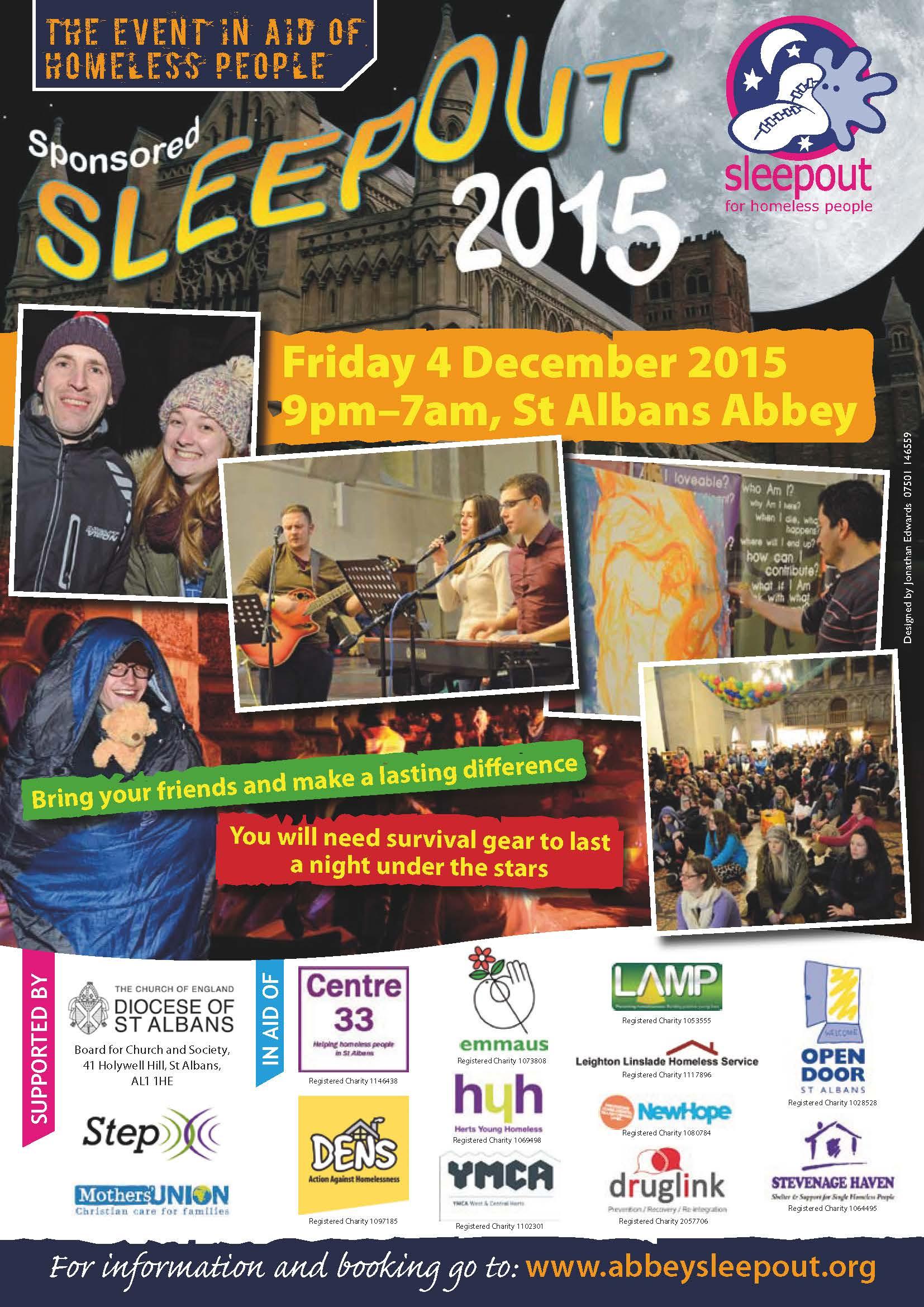 SleepOut Leaflet 2015