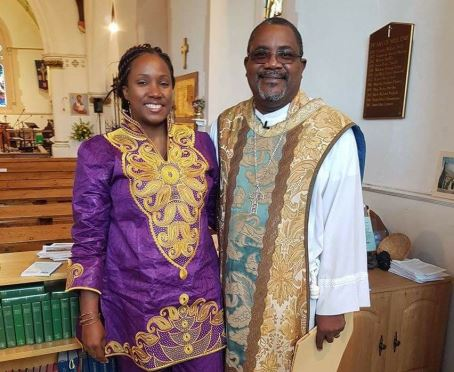 Bishop Philip Wright and his wife of our link diocese Belize