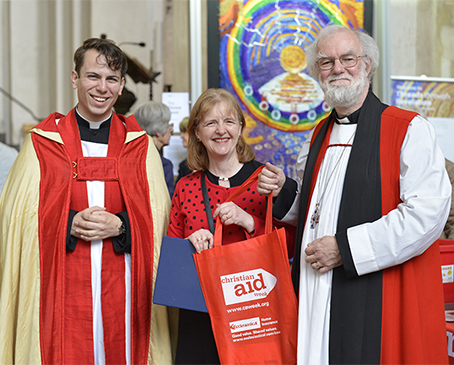 Rowan Williams in Cathedral for Christian Aid Week