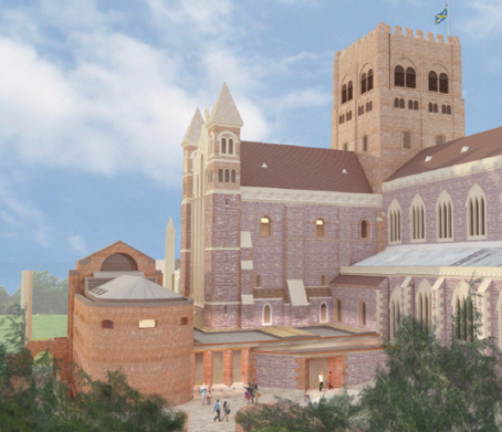 Artist's impression of St Albans Cathedral after building works