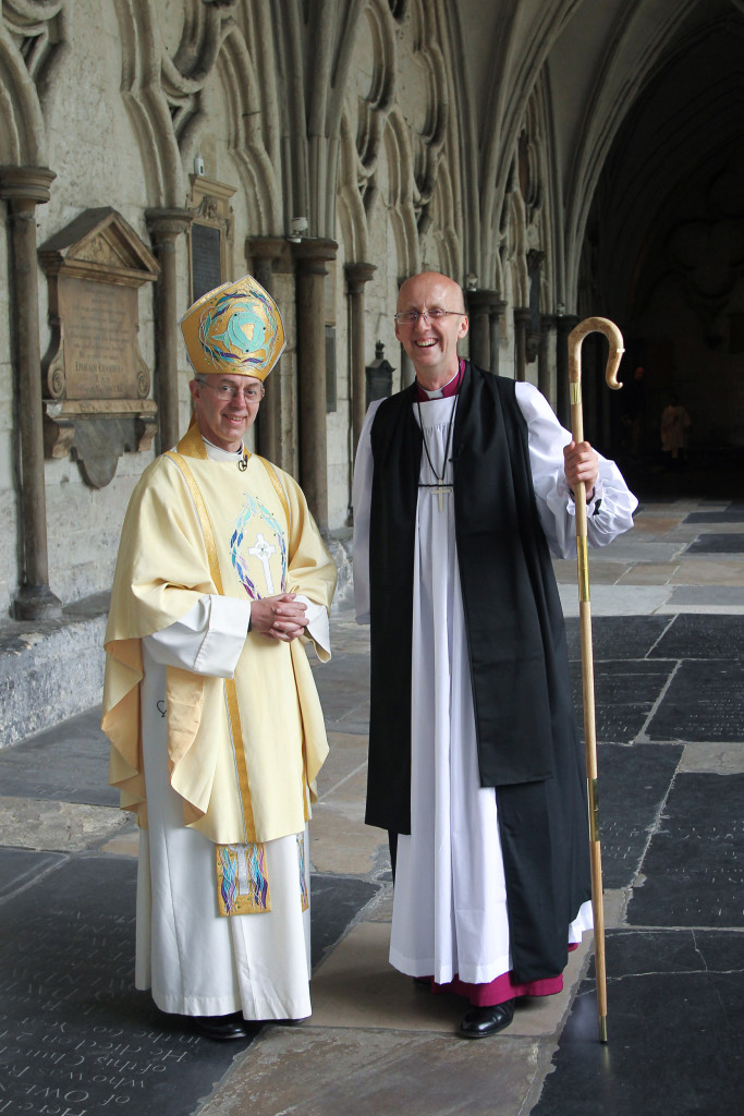 The Archbishop of Canterbury, The Most Reverend and Most Honourable Justin Welby,   and The Reverend Canon Michael Beasley Bishop of Hertford in the Diocese of St Albans,