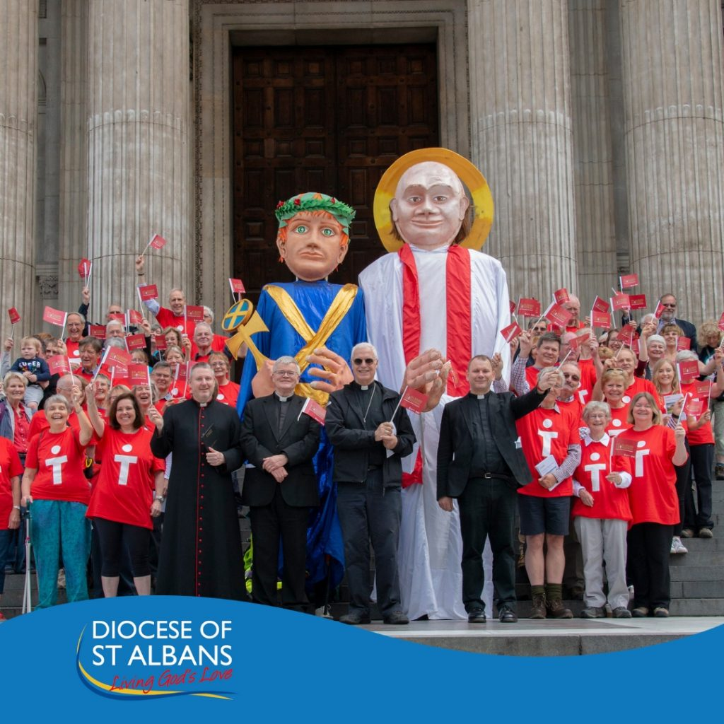 St Albans Pilgrim Way launched by pilgrims at St Paul's Cathedral