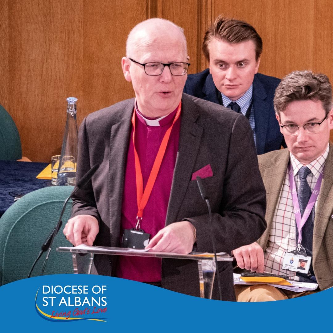 Bishop Alan Smith speaking at General Synod