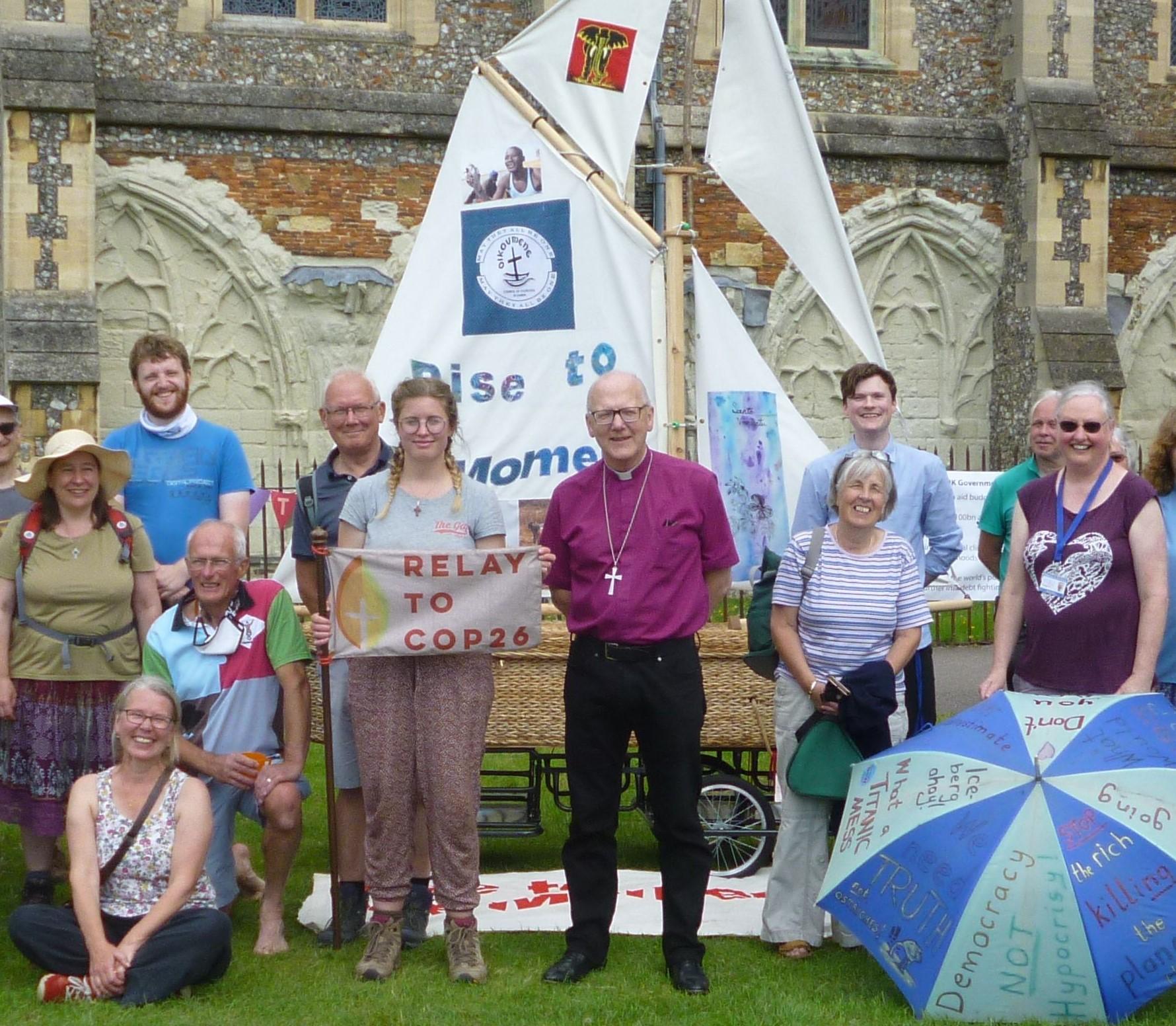 COP26 Pilgrims with Bishop Alan