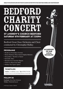 Poster for Bedford Charity Concert