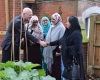 Bishop Alan greets members of the community using our allotments