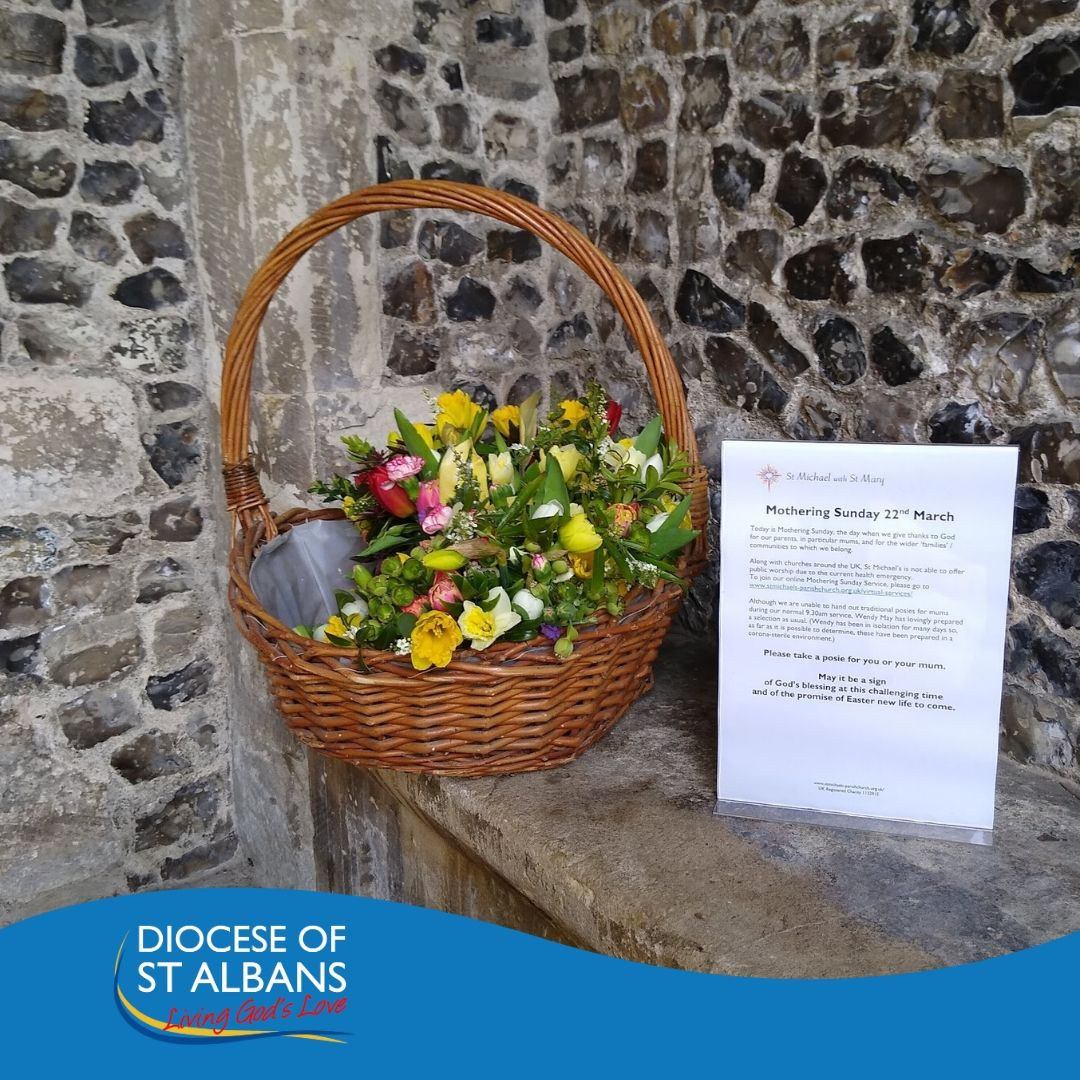 Mothering Sunday Posies at St Michaels Church