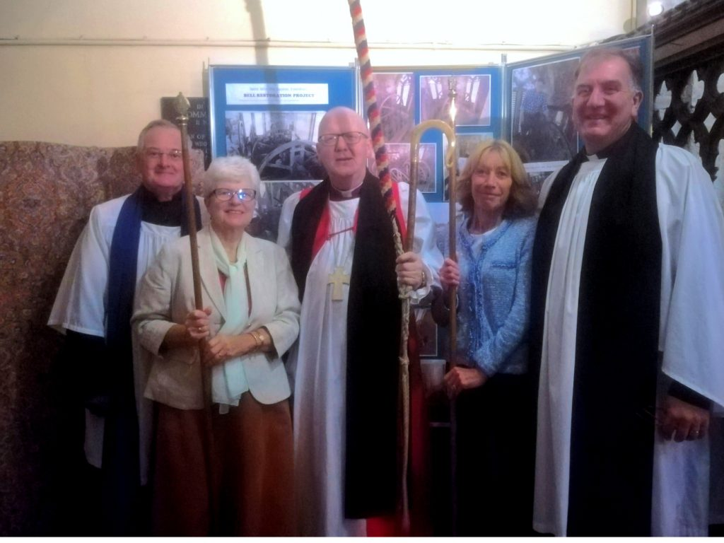 Bishop Alan with Revd Stephen Nuth, Rector of Woburn Benefice, Reader and Churchwardens.