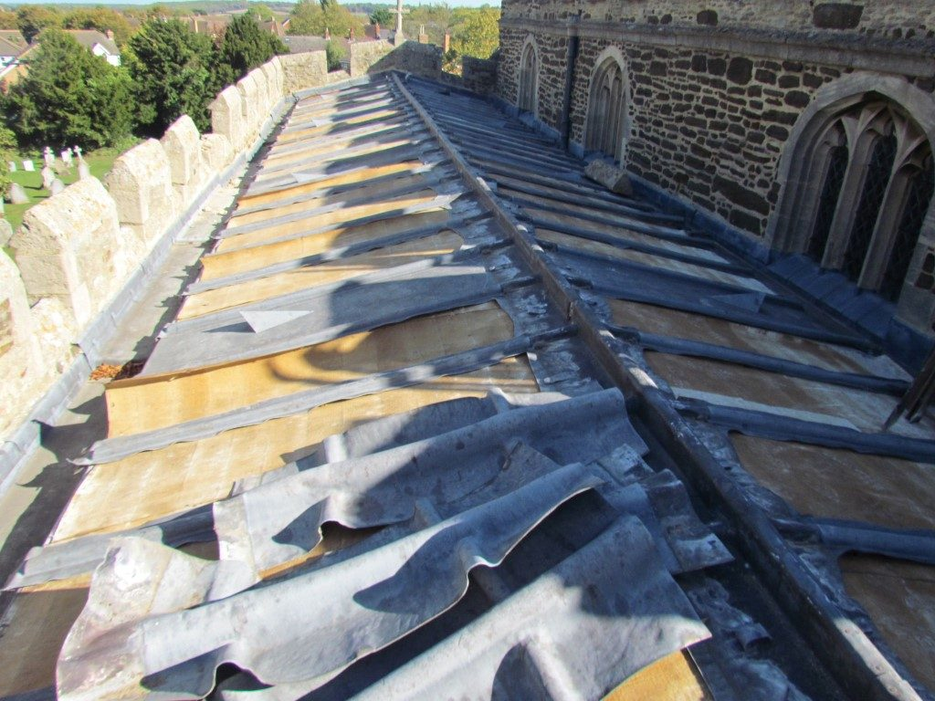 Lead Theft from roof of Houghton Conquest Church, Bedfordshire