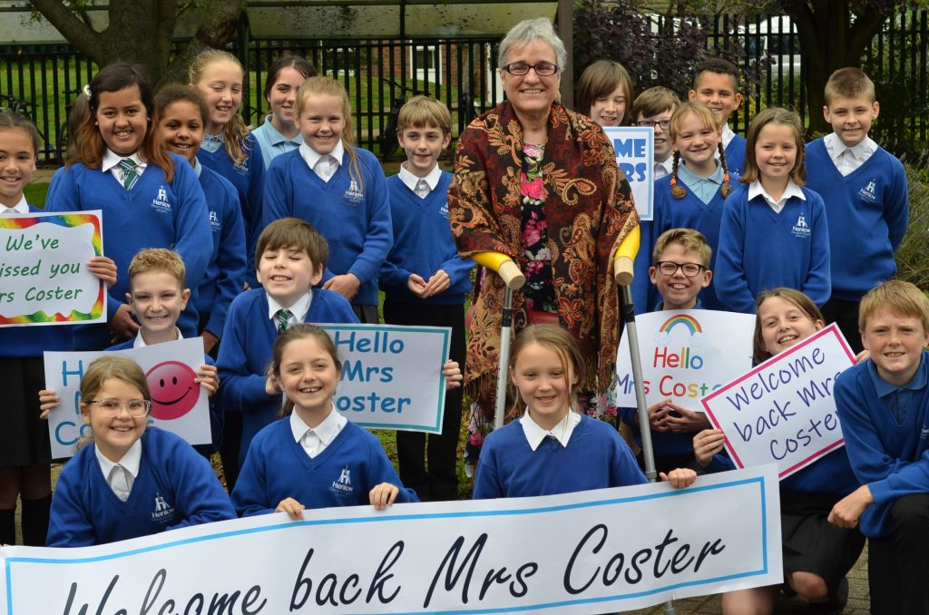 Year 5 Welcome Mrs Coster Back to Henlow Academy