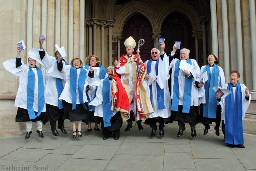 Readers with Bishop Michael