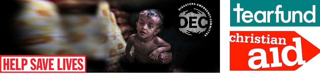 DEC: Help Save Lives   tearfund   christian aid