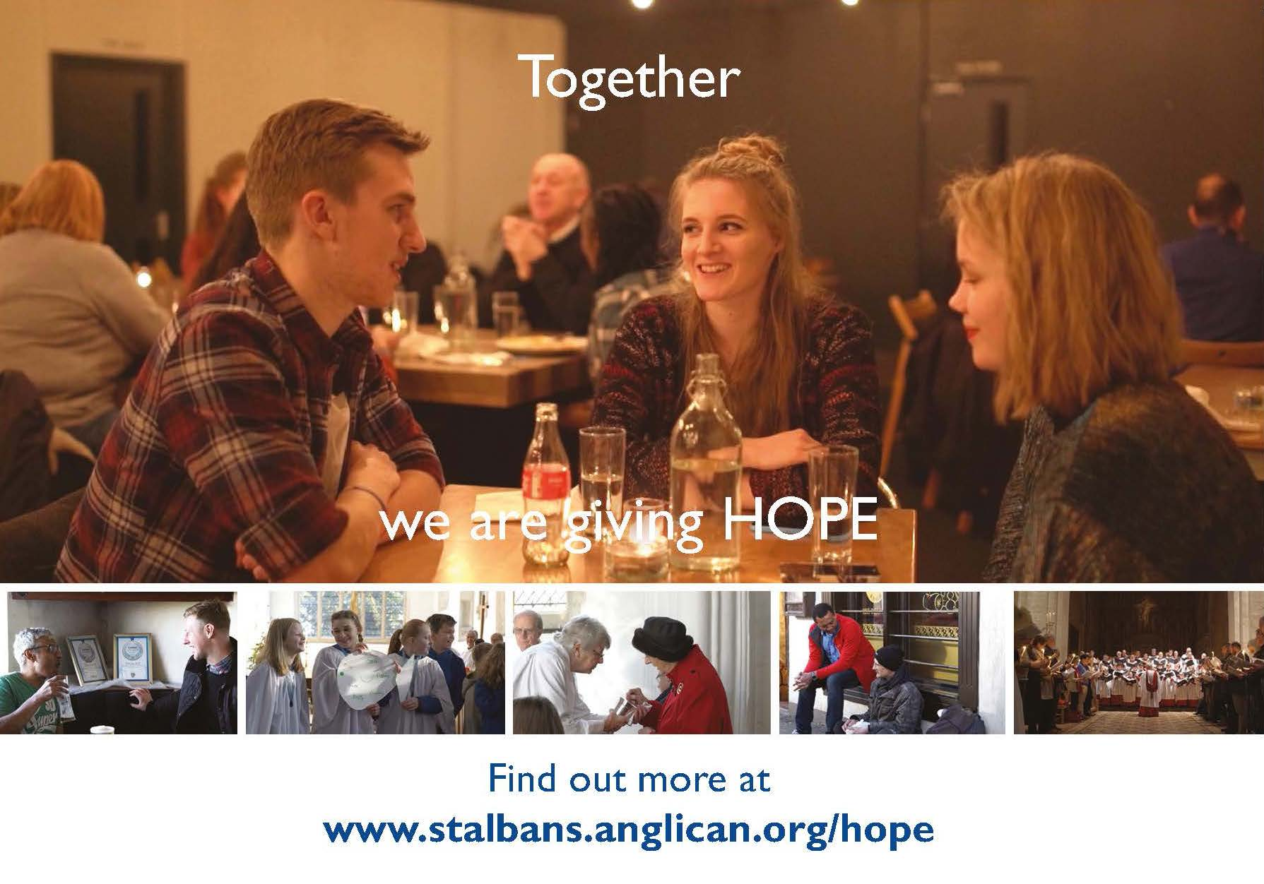"""Together we are giving HOPE"""