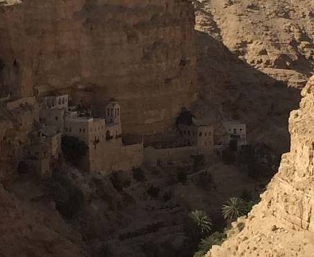 Wadi Qelt monastery in the Valley of the Shadow of Death