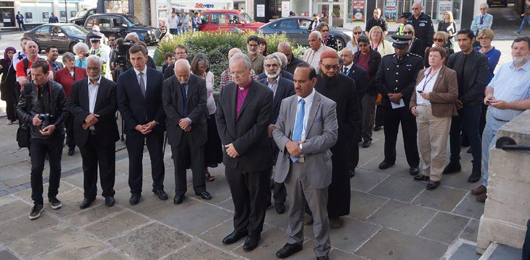 Bishop Richard at the Luton vigil
