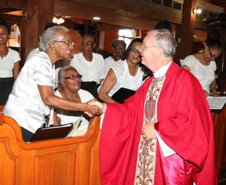 Image from Bishop Richard's visit to the NECA celebration at St John's Cathedral, Antigua
