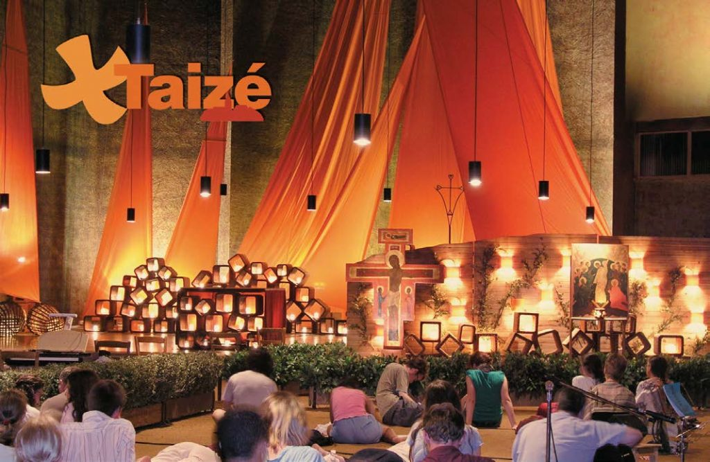 Worshipping at Taizé