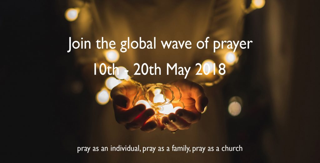 Join the global wave of prayer poster