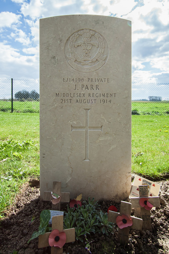 Private John Parr's Gravestone