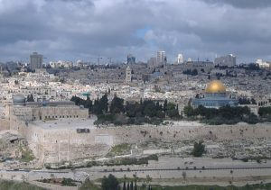 A pilgrim's view of Jerusalem from the Mount of Olives