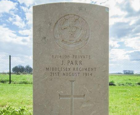 Private John Parr's Gravestone