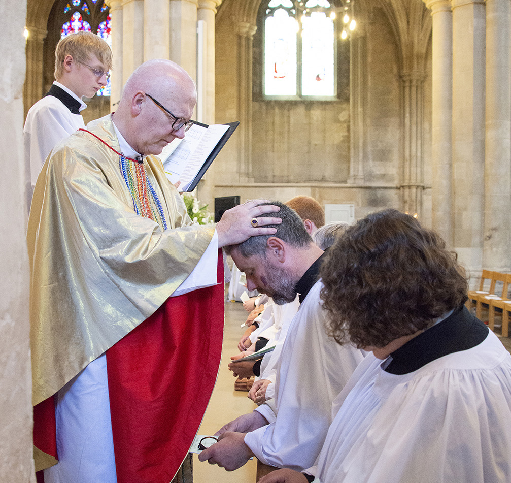 David being ordained at St Albans Cathedral