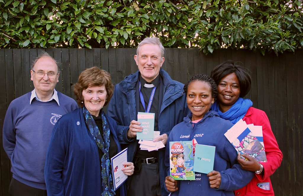 Revd Richard Howlett and parishioners from St Mary's  and St Benedict's