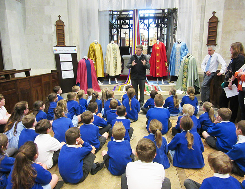 Schoolchildren at All Saints, Leighton Buzzard