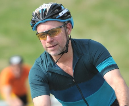 Revd Dr David Munchin on his bike
