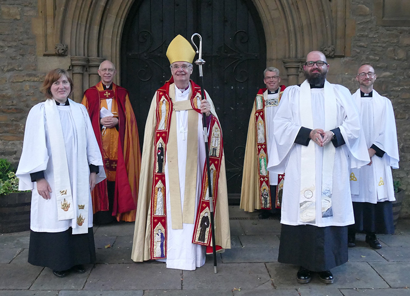 Priests ordained at St Paul's Bedford, June 2021