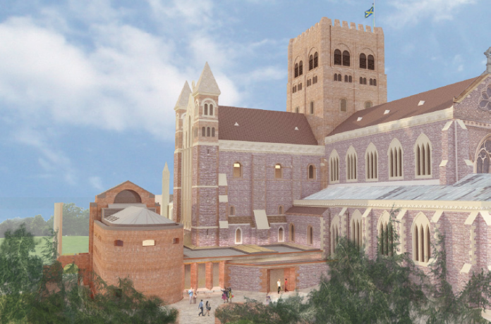 Artist's impression of St Albans Cathedral