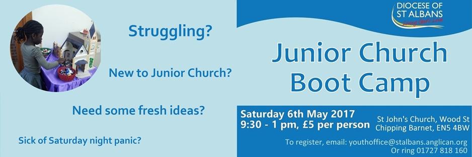 Junior Church Boot Camp, Saturday 6th May 2017 at St John's Church, Chipping Barnet