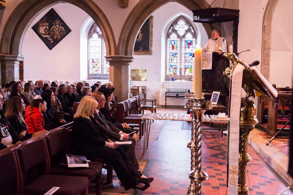Service at St James's Church, Bushey