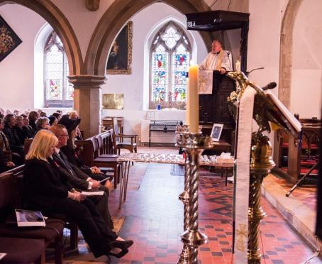 Service at St. James's Church, Bushey