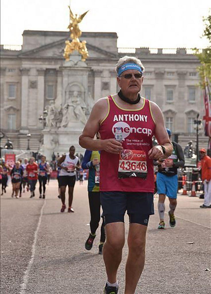 Anthony Archer running in the Marathon